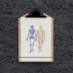 main dans la main - anatomie -squelette et écorchés - affiche - poster - letterpress - Lyon - Super Marché noir
