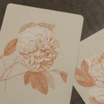 fleurs - pivoine - camelia - letterpress lyon - Super Marché noir