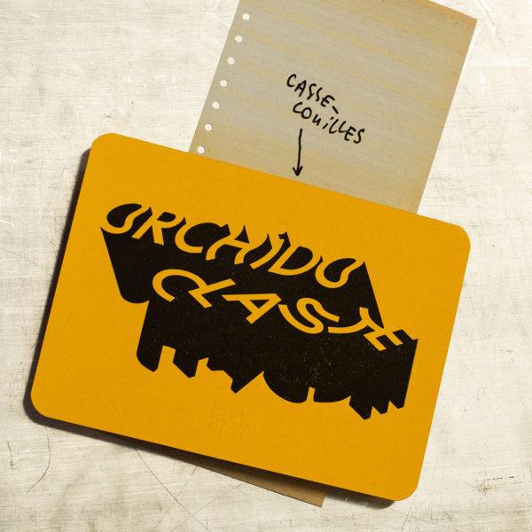 vieille insulte - vieille insulte - orchidoclaste - casse couilles - letterpress lyon - Super Marché noir- Super Marché noir