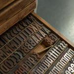 keep the peach - garde la pêche - carte letterpress - lettres bois - Super Marché noir