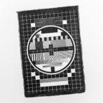 Papier coton - Mire TV Express - affichette letterpress - Super Marché noir