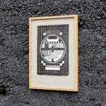 Mire TV Express - affichette letterpress - Super Marché noir