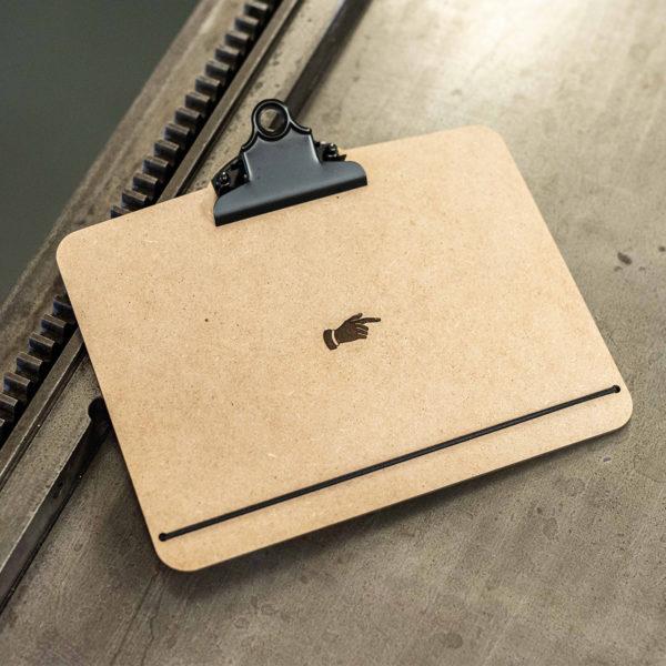 clipboard - fabrication locale - lyon - design -cadre - presse-papier - - vieille pancarte - super marché noir - letterpress lyon