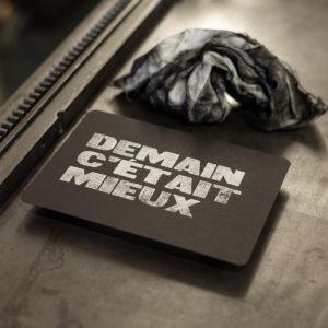 demain c'était mieux - punchlines - gravure - letterpress lyon - Super Marché Noir