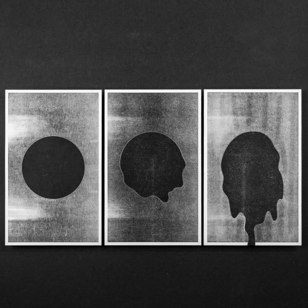éclipse méduse - affiche - poster - letterpress - Lyon - Super Marché noir