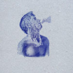 Burn out - anatomie - gravure - Affiche letterpress - Lyon - Super Marché noir