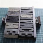 Matrices d'impression - Super Bonne ambiance - Pancarte letterpress - Super Marché noir