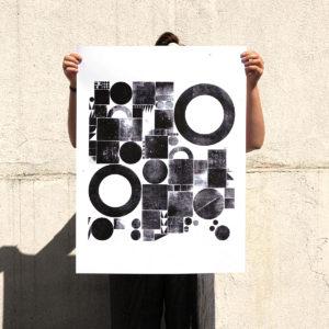 géogéo - woodtype -détails - letterpress - Super Marché noir