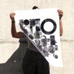 géogéo - woodtype - letterpress - Super Marché noir