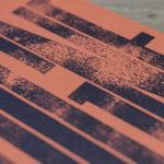 reste digne - punchline - poster - affiche - letterpress - Super Marché noir