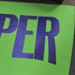 super - poster - affiche - letterpress - vert fluo - Super Marché noir
