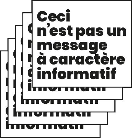 Super marché noir - ceci n'est pas un message à caractère informatif - humour noir - satyrique - ironie - dadaisme - dérision - affiche atypique - letterpress lyon - impression d'art - estampe - eshop