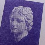 aphrodite child - venus - statue - hellenistique- portrait bitmap - affichette letterpress - Super Marché noir