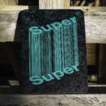 super - ultra - giga - superlatif - 3d - filaire - poster - affiche - letterpress - vert fluo - Super Marché noir