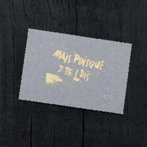 punchline - banalités - éléments de langage - punk - tempo - humour noir - parentalité - carte postale ancienne - crénelé - - letterpress - vert fluo - Super Marché noir