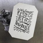 bien tranquille - punchlines - banalités - inutile - dada - ironie - oralité - inclusion - letterpress - Super Marché noir - création indépendante - créateur - conception française - création française